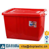 plastic peanut container with lid and wheels