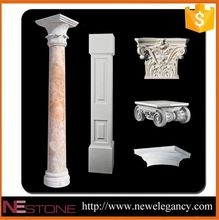 Best price natural well polished carved marble lamp post