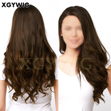 Best sell top quality 100% virgin European Human Hair long chestnut brown loose wave multidirection freestyle kosher Jewish wigs