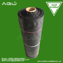 PP/PE Woven Geotextile Weed Control Fabric In Black-Green