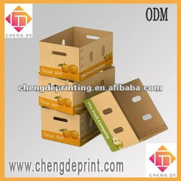 Carton box with handle for vegetable display vegetable display tray box