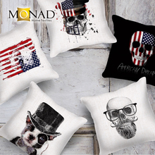 Monad Cool funky punk skull sofa slipcovers new design plain cushion cover