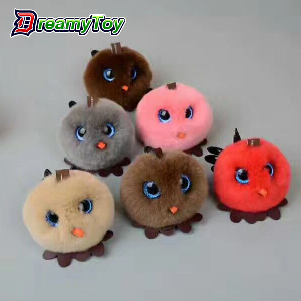 mini plush furry toy Portable keychain phone Charger Power Bank toys