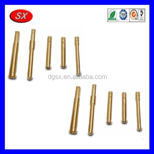 Precision industrial brass plug pin / electrical brass plug pins / customized complete brass pins Passed ISO 9001