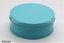 Wholesale round customized headset case / tin earphone packaging boxes with zipper/ round packaging can