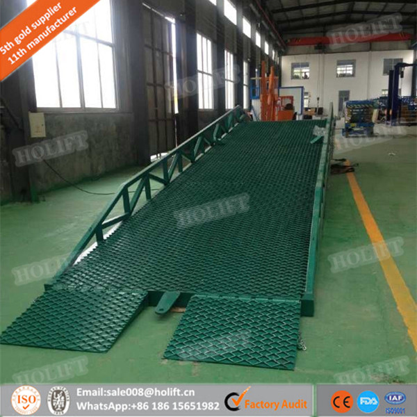 Holift brand Mobile loading dock ramp leveler hydraulic loading ramps for container
