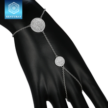 Fashion jewellery online 925 sterling silver rope chain ring with bracelet