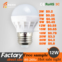 12WHot sales high bright energy saving led light bulb