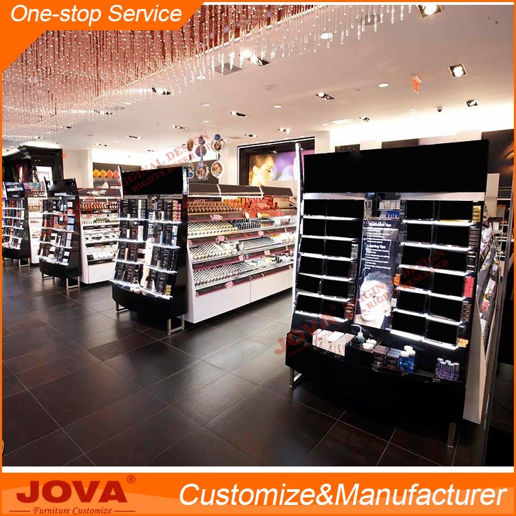 Makeup Display Stand Showcase Shop Design Cosmetics Shop Fitting