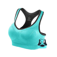 QIAONISHU Racerback Sports Bras - Padded Seamless High Impact Support for Yoga Gym Workout Fitness