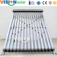 Hot water pool space heating copper pipe solar collectors