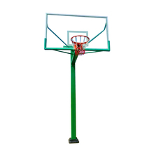 Portable Height Adjustable Manual-hydraulic Steel Base Indoor Outdoor Basketball Stand / System