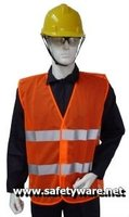 Safety Vest, High Visibility Safety Vest, Mesh High Visibility Safety Vest (Orange)