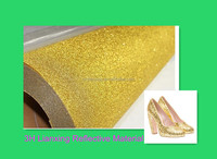 Factory made Fashional Eco-friendly Glitter PVC Leather for Shoes