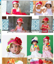 Fashion Baby Girls Hats With Flower Baby Caps Kids Hair Accessories