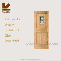 new design MDF with veneer wrought iron storm doors