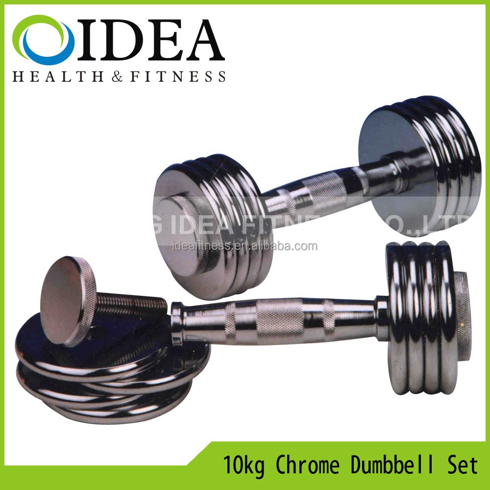 10kg Adjust Chrome Dumbbell Set