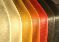 imitation top layer genuine leather pu coating recycle cow leather