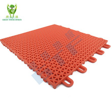 Recycled PP interlocking basketball flooring mat/flooring for badminton and tennis