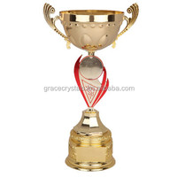 Golden plating sports trophy gifts souvenirs badminton trophy