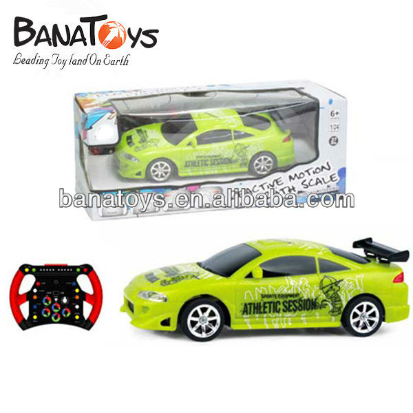 1:24 4 function green plastic mini rc car nitro
