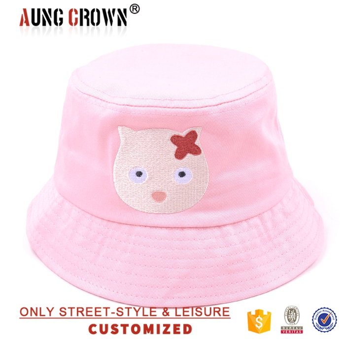 Cheap embroidery childrens bucket hat