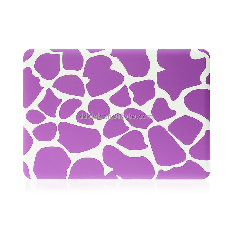 DDC brand purple watermark water paste injection PC shell tablet case for apple macbook pro for macbook air
