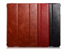 ICARER Customized Vintage Genuine Leather Folio Case for iPad Air 2
