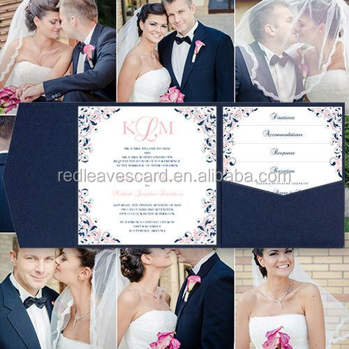 Flock Printed good price Paper crafts white flocked Wedding Invites
