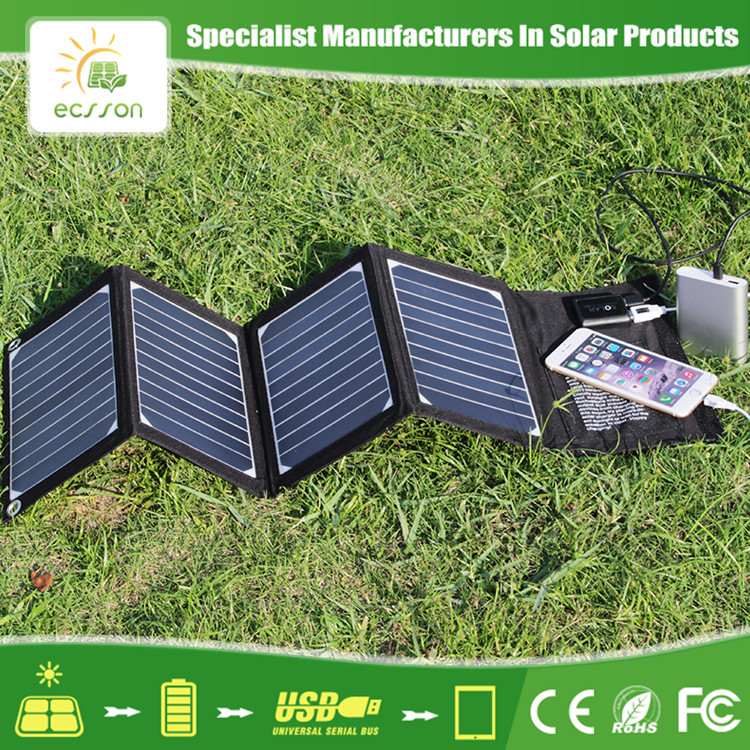 High Quality Outdoor Waterproof Foldable Portable Solar Panel for Mobile Charger