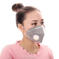 Non-woven fabrics breathtable half face mask anti gas mask anti dust Valved active carbon particulate respirator