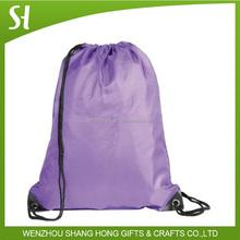 assorted nylon polyester drawstring bag gym sack promotional