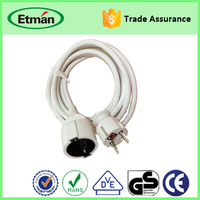 Europe pvc jacket flexible extension cable with plug