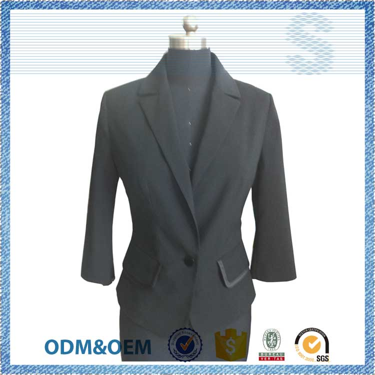NBZC Passed SGS test fomal woman suit,ladies suit design,100% cotton dye suit