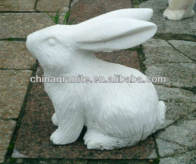 white marble rabbit statue hand carved stone animal carving sculpture