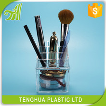portable makeup cosmetic boxes wholesale Acrylic cosmetic story display stand makeup case