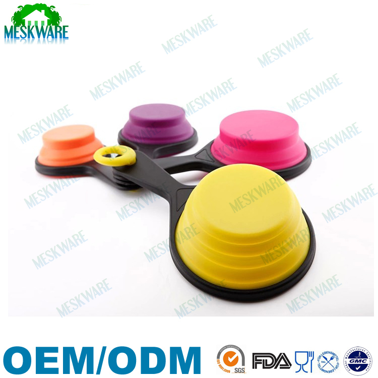 Custom size FDA standard collapsible measuring cups