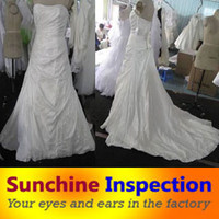 Wedding Dress Quality Inspection in Suzhou / Zhongshan and Guangzhou / Third Party QC Services