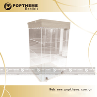 Hot acrylic lockable countertop display case with LED