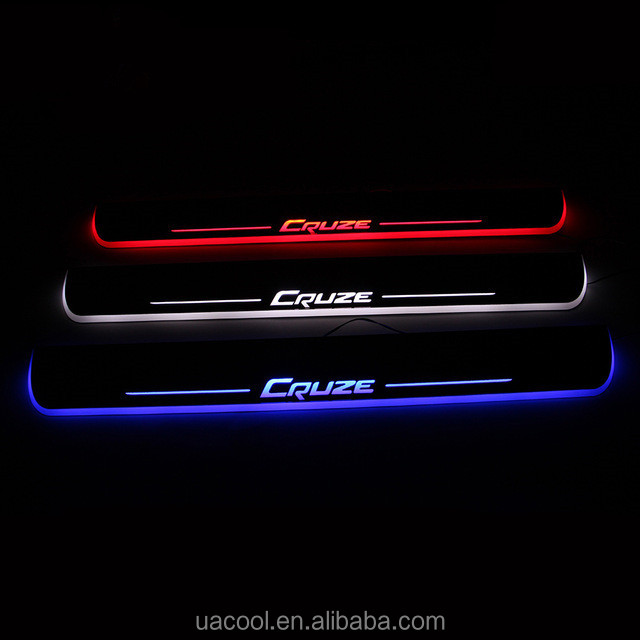09-15 Chevrolet Cruzes Led Moving Door Scuff Plate dynamic light pedal sill light LED lights