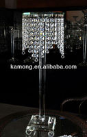 2015 new design crystal flower stand for wedding