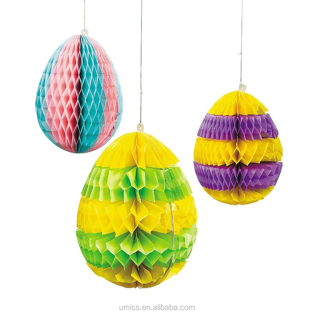 Easter Paper Honeycomb Hanging Large Egg Party Decorations