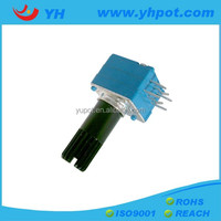 YH jiangsu 9mm dual gang volume control 10k linear rotary potentiometer with plastic shaft