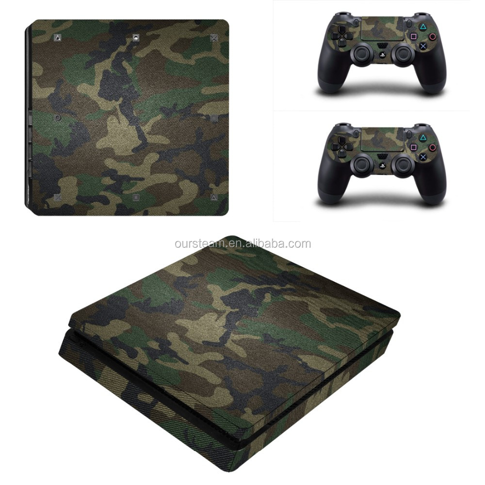 Army Style Vinyl Protective Decal Skin Sticker For PS4 Slim Vinyl Sticker For PS4 Slim Game Accessoires