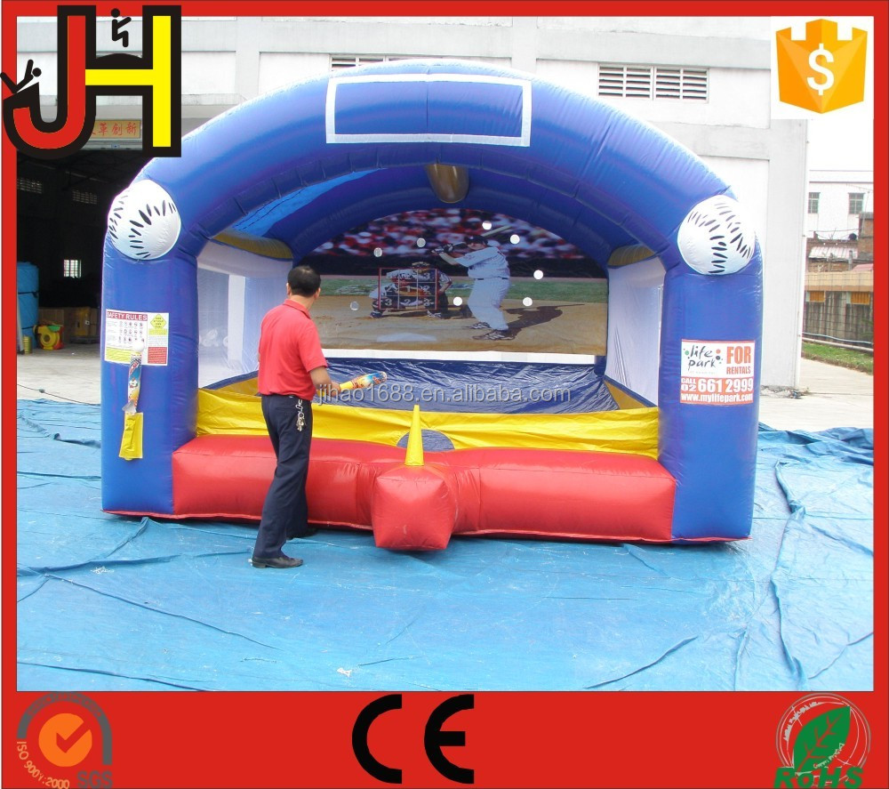 Commercial Inflatable Baseball Batting Challenge Interactive Game