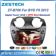 ZESTECH 2 din hd touch screen gps oem car dvd for byd f0 2013 car radio audio stereo cd dvd player car audio