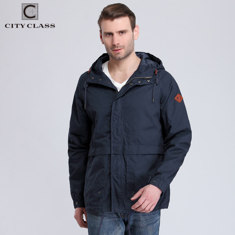 3803 2017 Top Selling Fashion 100% Cotton Washed Windbreakers Coats Goog Quality Men Casual Loose Multi-colors Hooded Windbreake