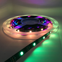 UL Listed Nonwaterproof Digital Tape WS2812 IC 5V 9W 30LED 30Pixel/M 5M Roll 3000MCD RGB 5050SMD LED Tape LED Strip Light