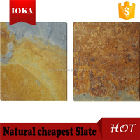 Warm Golden Color Natural Stone Outdoor Flooring Slate
