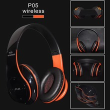 fashion heaphone with wireless 3.5mm headphone with mic bluetooth sport headphone